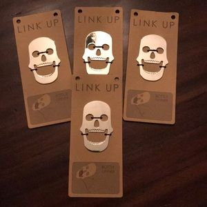 Link Up • 4 Bottle Openers • Skull Design • NWT